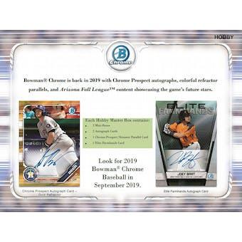 2019 Bowman Chrome Baseball Hobby Pack