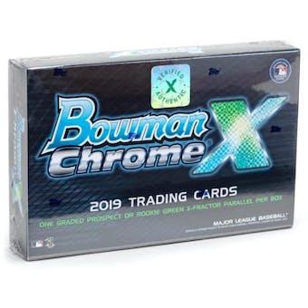 2019 Bowman Chrome X Baseball Hobby Box
