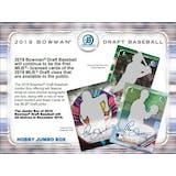 2019 Bowman Draft Baseball Hobby Jumbo 8-Box Case (Presell)