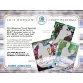 2019 Bowman Draft Baseball Jumbo 4 Box- DACW Live 29 Spot Random Team Break #2
