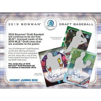 2019 Bowman Draft Baseball Jumbo 8-Box Case- DACW Live 29 Spot Pick Your Team Break #1