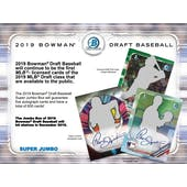 2019 Bowman Draft Baseball Super Jumbo 3 Box- DACW Live 29 Spot Random Team Break #3