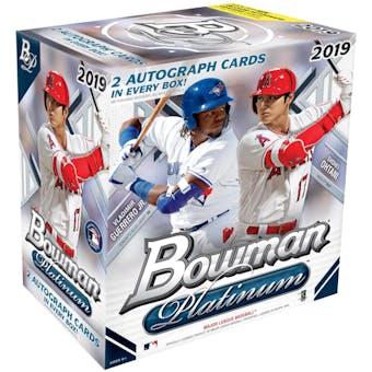 2019 Bowman Platinum Baseball Collector Box