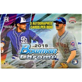 2019 Bowman Chrome Baseball HTA Choice Hobby Box