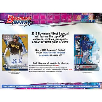 2019 Bowman's Best Baseball Hobby Box (Presell)