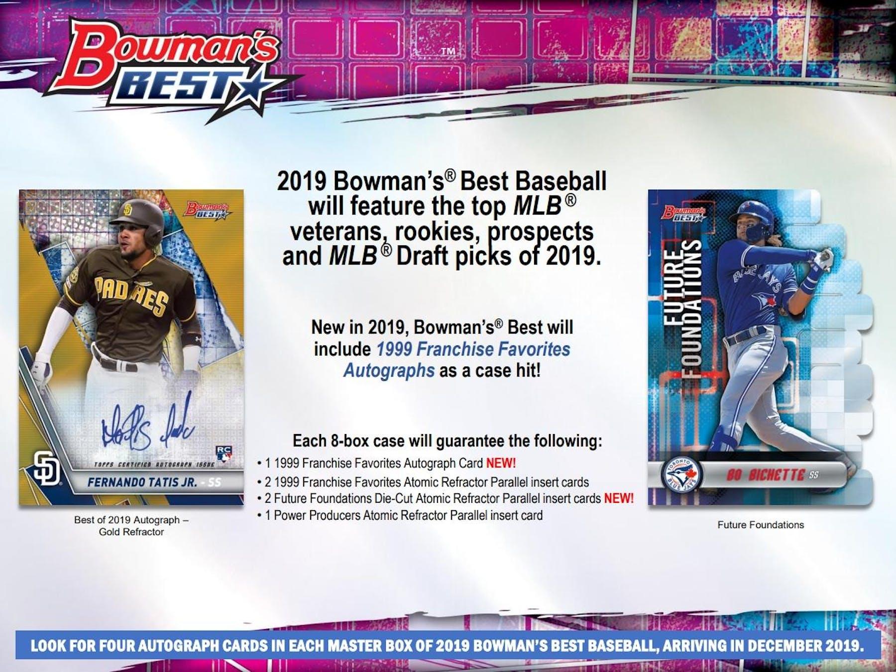 2019 Bowmans Best Baseball Hobby 8 Box Case Presell