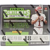 2019 Panini Contenders Draft Picks Football Hobby Box