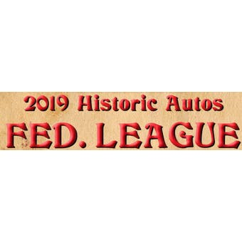 2019 Historic Autographs Fed League Baseball Hobby Box (Presell)