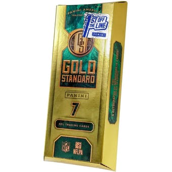 2019 Panini Gold Standard 1st Off the Line Football Hobby Box