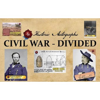 2019 Historic Autographs Civil War Divided Hobby 4-Box Case (Presell)
