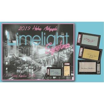 2019 Historic Autographs Limelight Signatures Hobby Box