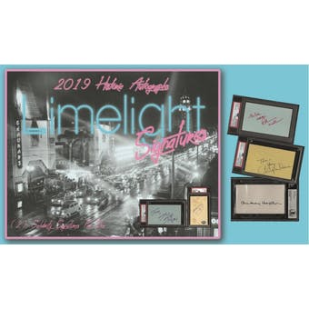 2019 Historic Autographs Limelight Signatures Hobby Box