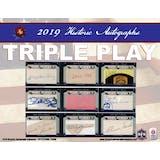 2019 Historic Autographs Triple Play Baseball Hobby 12-Box Case (Presell)
