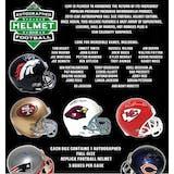 2019 Leaf Autographed Full Size Football Helmet Hobby Box