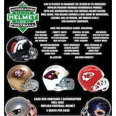 2019 Leaf Autographed Full Size Football Helmet Hobby Box