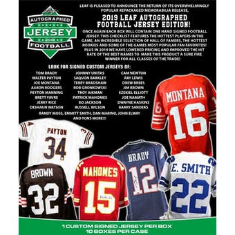 2019 Leaf Autographed Jersey Edition Football Hobby Box (Presell)
