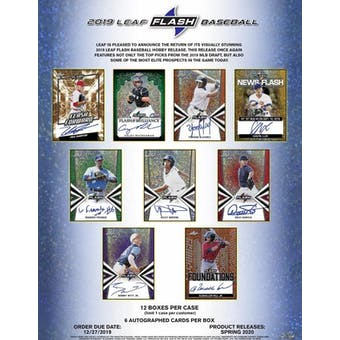 2019 Leaf Flash Baseball Hobby 12-Box Case (Presell)