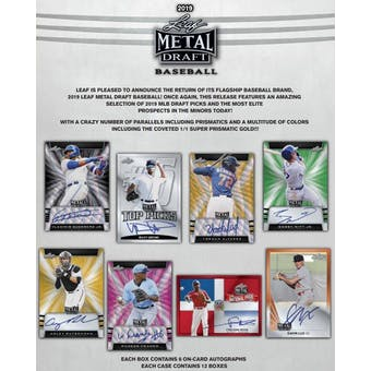 2019 Leaf Metal Draft Baseball Hobby Box (Presell)