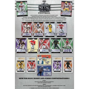 2019 Leaf Metal Draft Football Hobby Jumbo Box