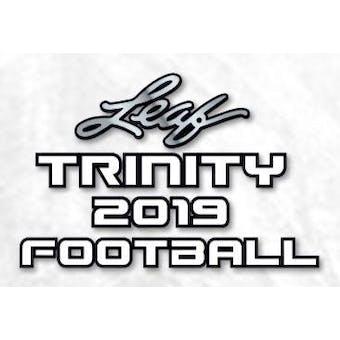 2019 Leaf Trinity Football Hobby Box (Presell)