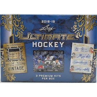 2018/19 Leaf Ultimate Hockey Hobby Box