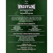 2019 Leaf Autographed 8x10 Photograph Edition Wrestling Hobby 12-Box Case