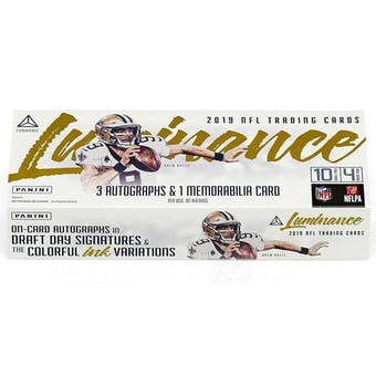 2019 Panini Luminance Football 6-Box-  DACW Live 32 Spot Random Team Break #1