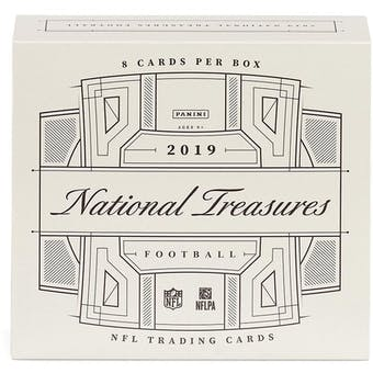2019 Panini National Treasures 1st Off The Line FOTL Football Hobby Box