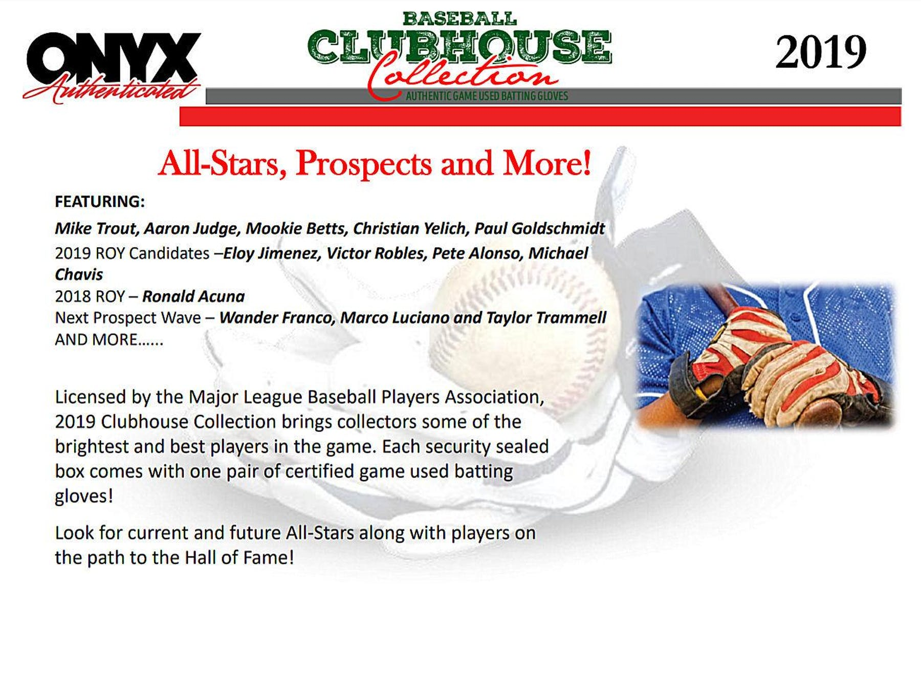 2019 Onyx Clubhouse Collection Baseball Hobby Box Presell