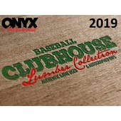 2019 Onyx Clubhouse Lumber Collection Baseball Hobby Box (Presell)