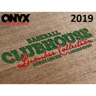 2019 Onyx Clubhouse Lumber Collection Baseball Hobby Box