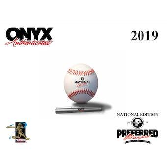 2019 Onyx Preferred Players Collection National Edition Baseball Hobby Box