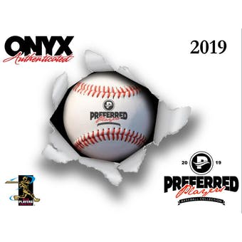 2019 Onyx Preferred Player Collection Autographed Baseball Hobby Box