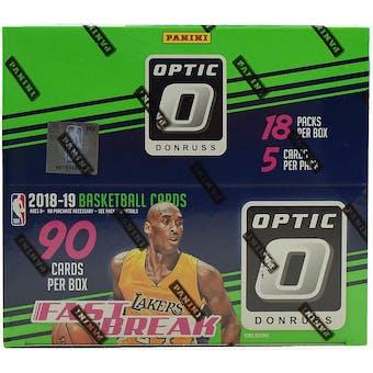 2018/19 Panini Donruss Optic Fast Break Basketball Box