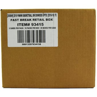 2018/19 Panini Donruss Optic Fast Break Basketball 20-Box Case