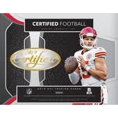 2019 Panini Certified Football 12-Box Case- DACW Live 32 Spot Pick Your Team Break #1