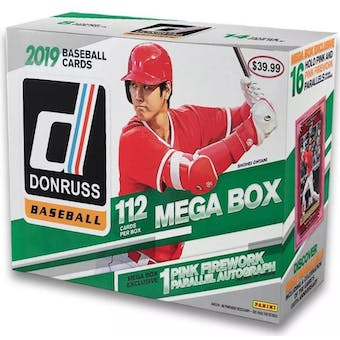 2019 Panini Donruss Baseball Mega Box