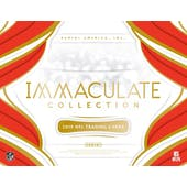 2019 Panini Immaculate Football Hobby 6-Box Case (Presell)