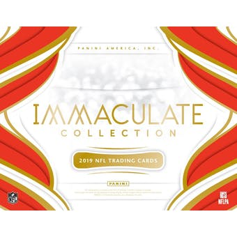 2019 Panini Immaculate Football Hobby Box (Presell)