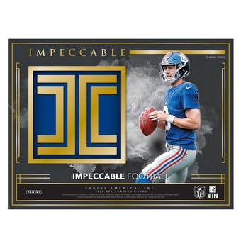 2019 Panini Impeccable Football Hobby Box (Presell)