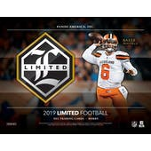2019 Panini Limited Football Hobby 14-Box Case (Presell)