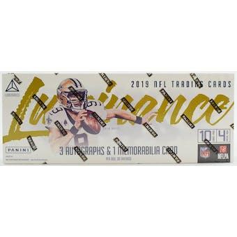 2019 Panini Luminance Football Hobby Box