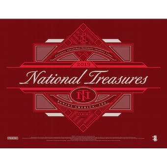2019 Panini National Treasures Baseball Hobby Box (Presell)