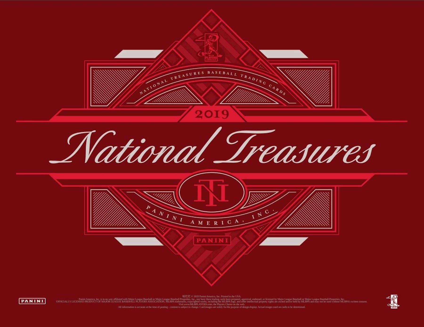 2019 Panini National Treasures Baseball Hobby Box Presell