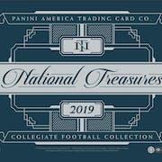 2019 Panini National Treasures Collegiate Football 4-Box Case- DACW Live 31 Spot Random Team Break #1