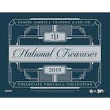 2019 Panini National Treasures Collegiate Football Hobby 4-Box Case (Presell)
