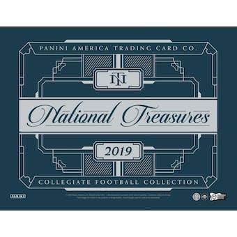 2019 Panini National Treasures Collegiate Football Hobby Box (Presell)