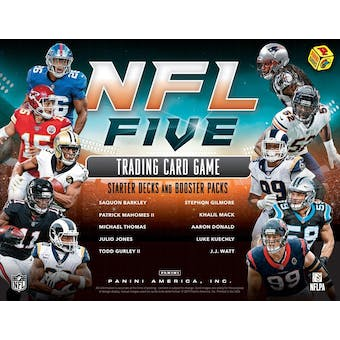 2019 Panini NFL Five Football Trading Card Game Starter Box (10 Starter Decks) (Presell)