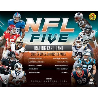 2019 Panini NFL Five Football Trading Card Game Starter 8-Box Case