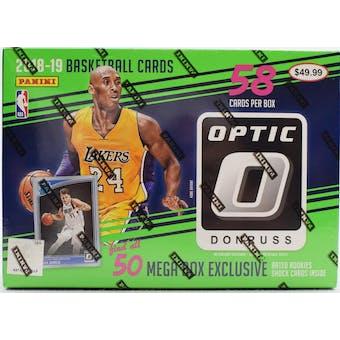 2018/19 Panini Donruss Optic Basketball 58ct Mega Box